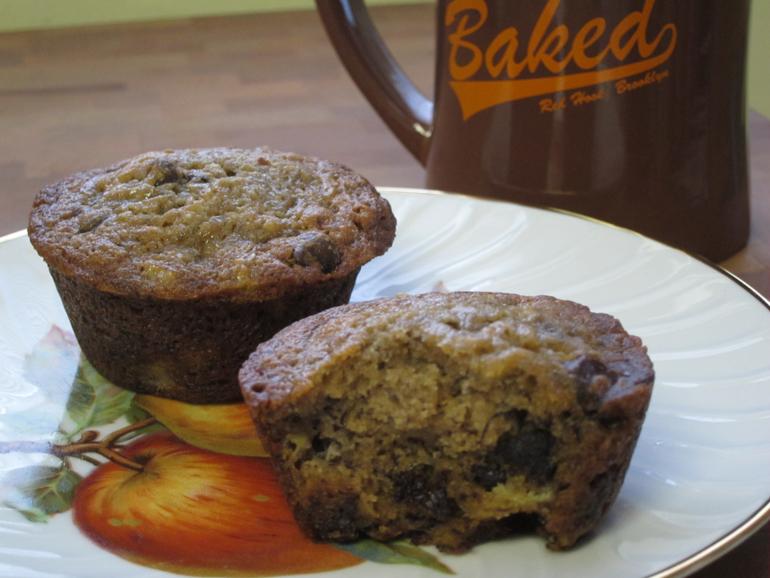Banana Espresso Chocolate Chip Muffins | Pork Cracklins