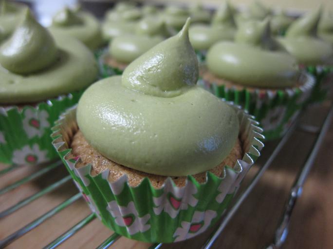 Almond Green Tea Cupcakes | Pork Cracklins
