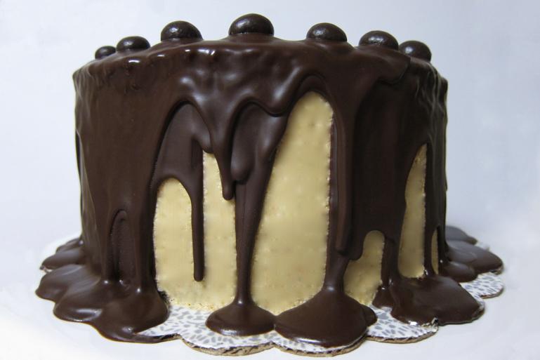 Chocolate Coffee Cake with Dark Chocolate Ganache | Pork Cracklins
