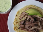 Pork Shoulder Roast with Citrus Mojo & Green Sauce