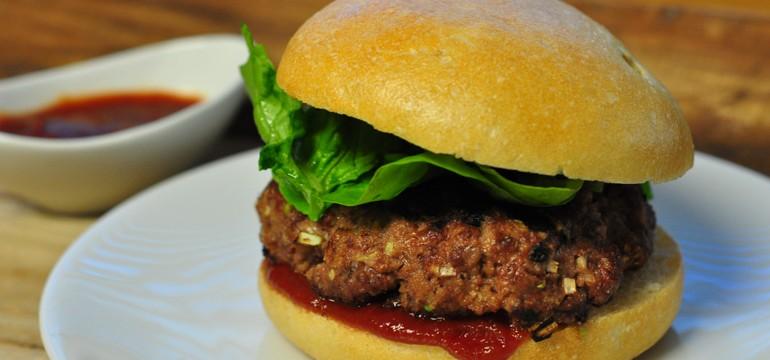 Angostura Burgers | Pork Cracklins