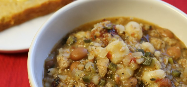 Tomatillo & Pork Chili | Pork Cracklins