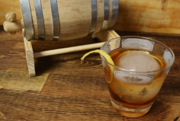 Barrel-Aged Vieux Carre | Pork Cracklins