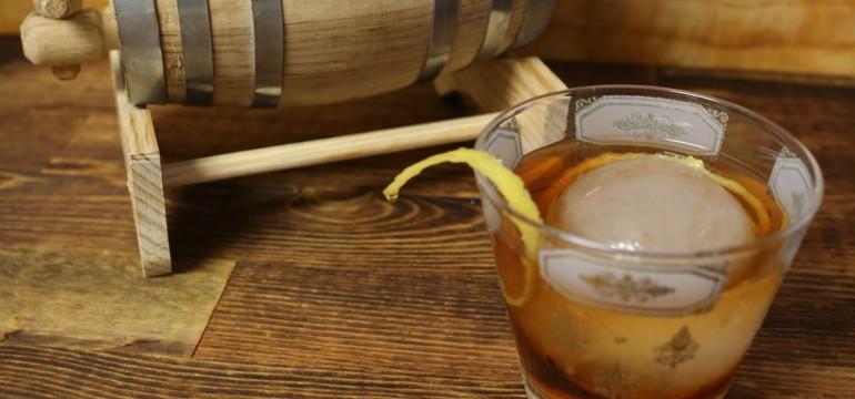 Barrel-Aged Vieux Carre | Pork Cracklins