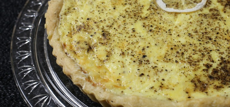 Lemon & Black Pepper Quiche | Pork Cracklins