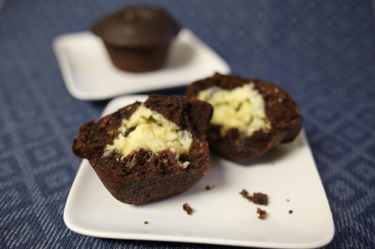 Chocolate Cheesecake Muffins | Pork Cracklins