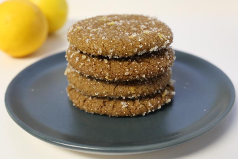 Gingersnaps with Lemon Sugar | Pork Cracklins