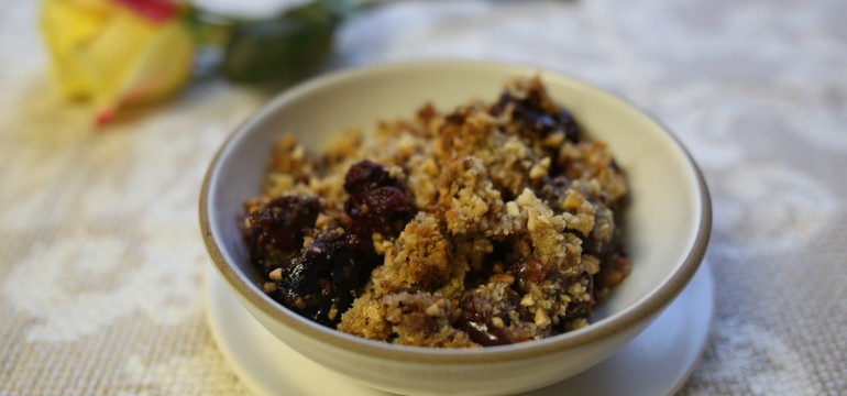 Cherry Almond Crisp | Pork Cracklins