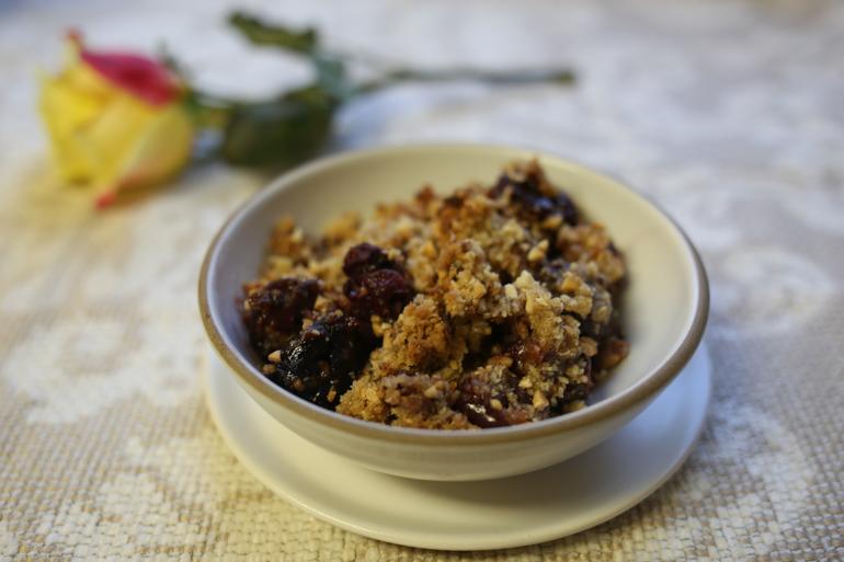 Cherry Almond Crisp | Pork Cracklins
