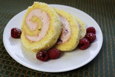 Light & Lemony Jelly Roll Cake with Raspberry Cream Filling   Pork Cracklins