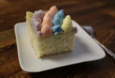 Easter Coconut Sheet Cake   Pork Cracklins