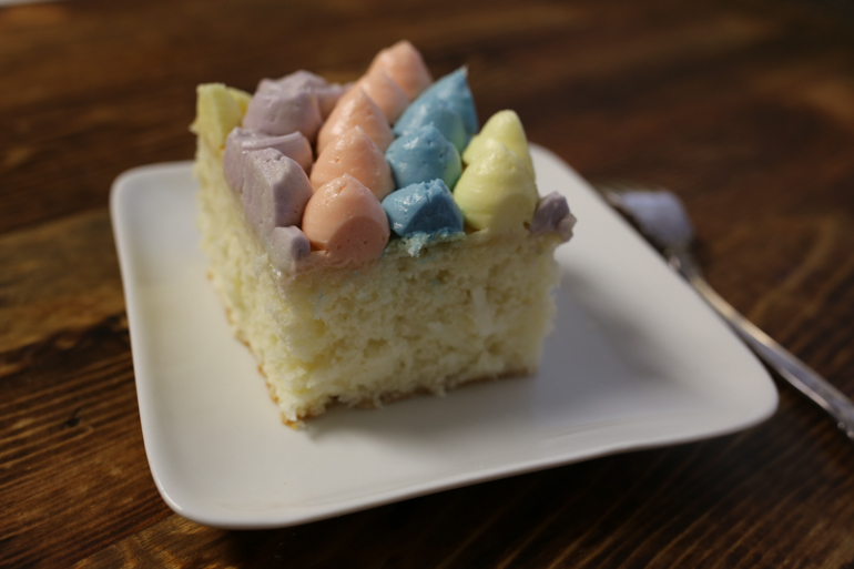 Easter Coconut Sheet Cake | Pork Cracklins