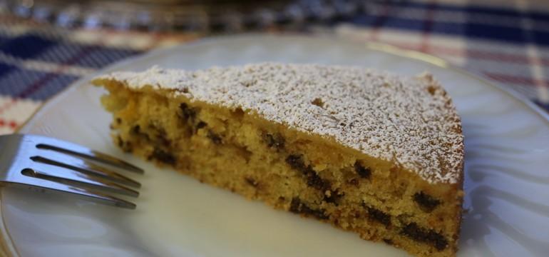 Orange Buttermilk Picnic Cake with Chocolate Chips | Pork Cracklins