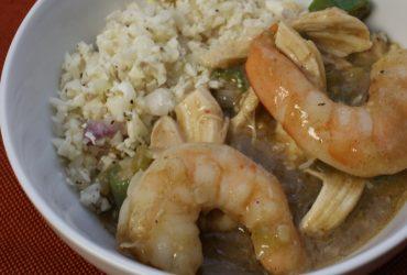Shrimp & Chicken Gumbo   Pork Cracklins