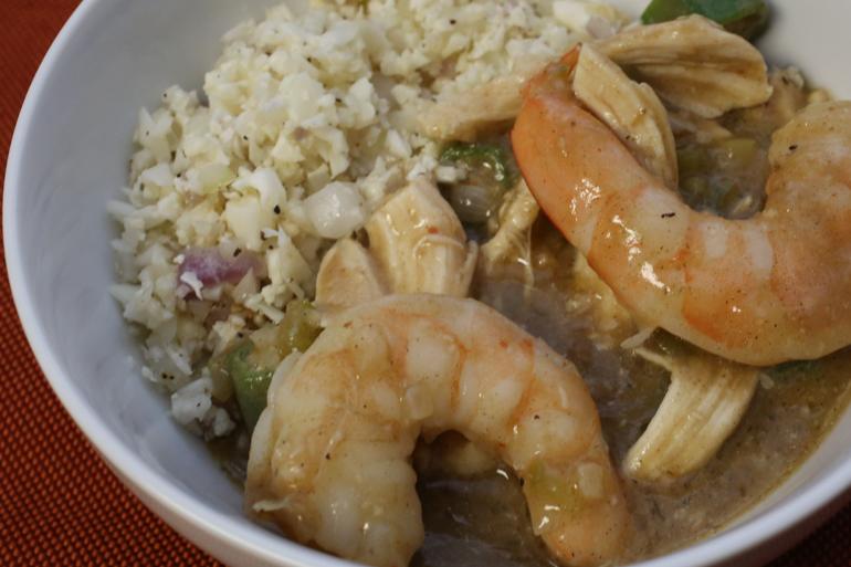 Shrimp & Chicken Gumbo | Pork Cracklins