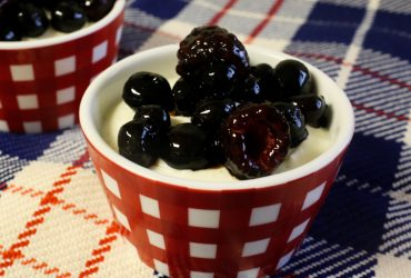 Honey-Vanilla Greek Yogurt Mousse with Sticky Balsamic Berries | Pork Cracklins