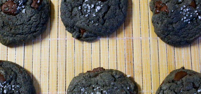 Salted Black Tahini Chocolate Chip Cookies   Pork Cracklins