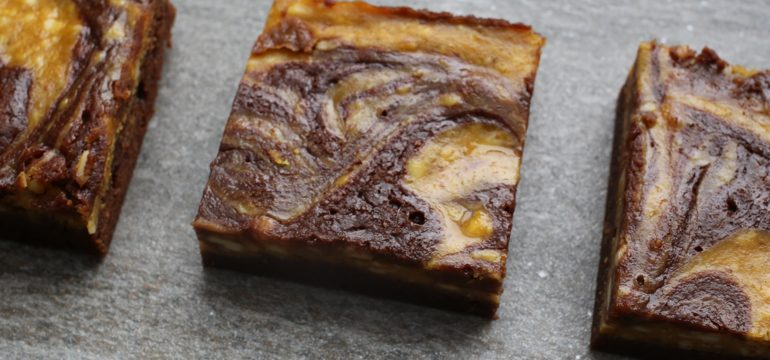 Pumpkin Swirl Cheesecake Chocolate Brownies | Pork Cracklins