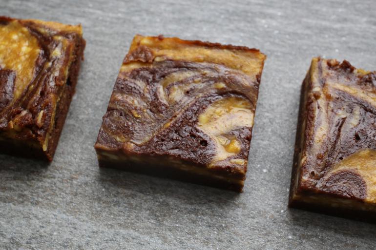 Pumpkin Swirl Cheesecake Chocolate Brownies | Pork Cracklins