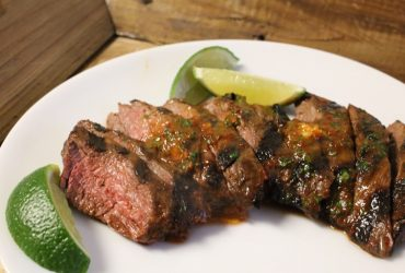 Grilled Skirt Steak with Adobo Butter | Pork Cracklins