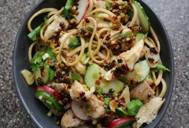 Noodle Salad with Chicken and Chile-Scallion Oil | Pork Cracklins