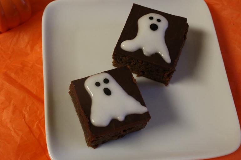 Milk Chocolate Malted Brownies with Chocolate Ganache   Pork Cracklins
