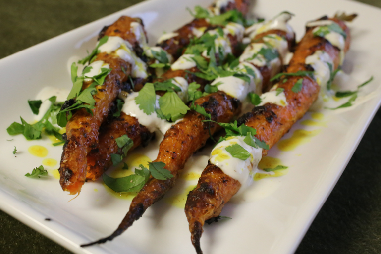 """Tandoori"" Carrots with Vadouvan Spice & Yogurt 