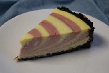 Raspberry Zebra Cheesecake | Pork Cracklins