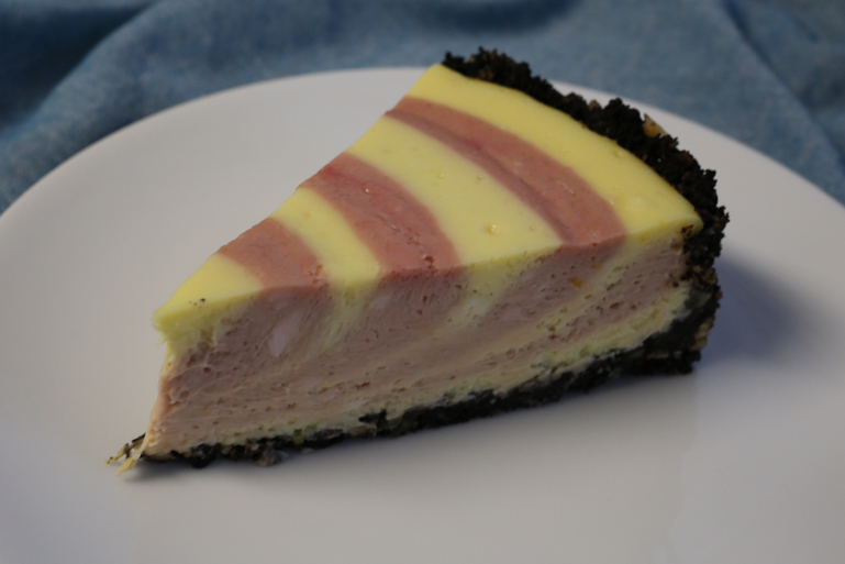 Raspberry Zebra Cheesecake | Pork Cracklins