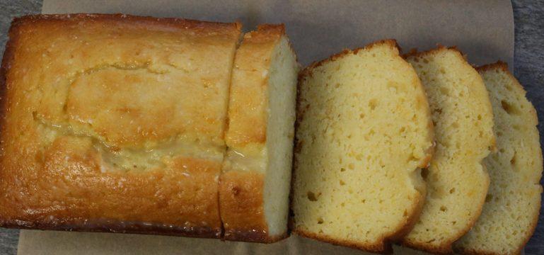 Iced Almond-Lemon Loaf Cake | Pork Cracklins