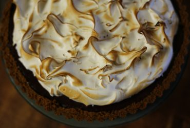 Sweet Potato Tart with Gingersnap Crust and Heavenly Meringue | Pork Cracklins