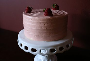 Strawberry Supreme Cake   Pork Cracklins