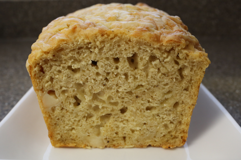 Cheesy Bastille Day Beer Bread | Pork Cracklins