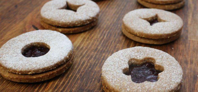 Traditional Linzer Cookies   Pork Cracklins