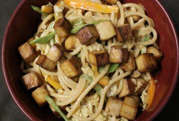 Roasted Tofu & Peanut Noodle Salad | Pork Cracklins