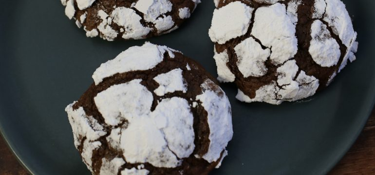 Exceedingly Chocolate Crinkles | Pork Cracklins