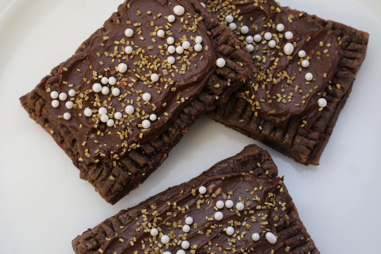 Chocolate Pop Tarts with Peanut Butter and Jam Filling | Pork Cracklins