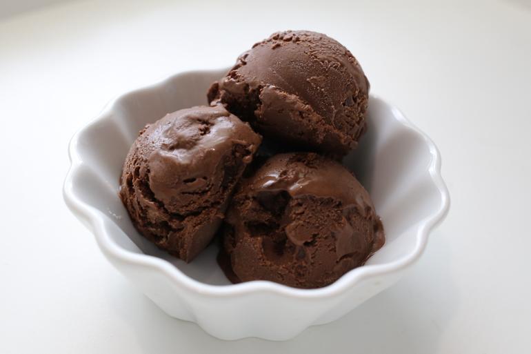 Dark Chocolate Ice Cream   Pork Cracklins
