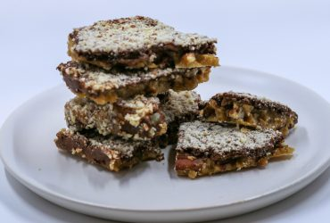 Chocolate, almond and pecan toffee