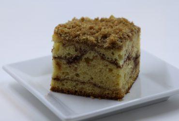 Sour Cream Coffee Cake with Chocolate Cinnamon Swirl | Pork Cracklins