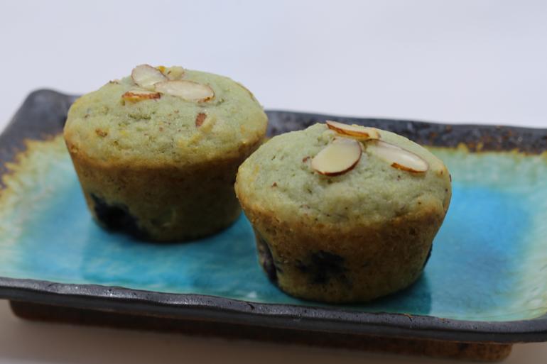 Orange Almond Blueberry Muffins